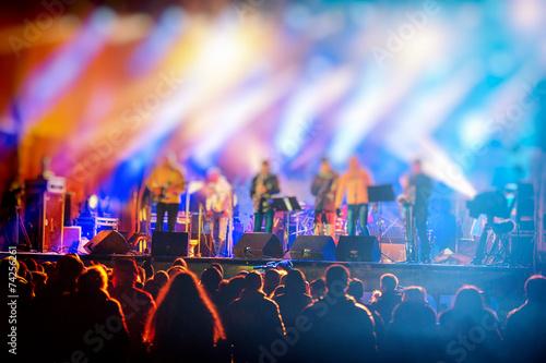 Leinwanddruck Bild - Aphotostudio : night concert