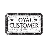 Loyal customer poster