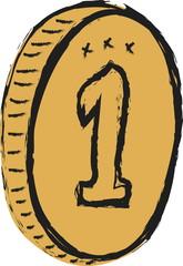 doodle golden coins