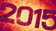 2015 with exploding fireworks