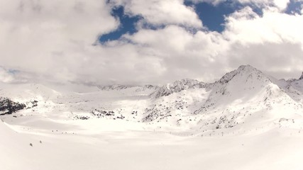 Snowy Mountains and Clouds Timelapse (Andorra, Pyrenees)