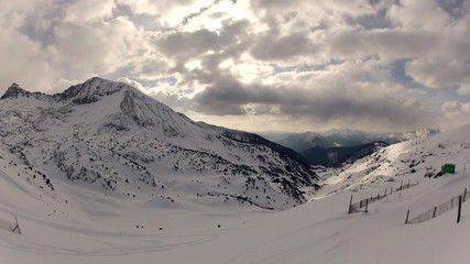 Snow Mountains Clouds Timelapse, Andorra, Pyrenees.