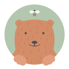 Animal set. Bear. Vector Illustration