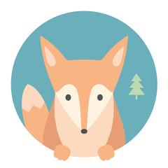 Animal set. Fox. Vector Illustration
