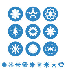 Snowflake. Icon set