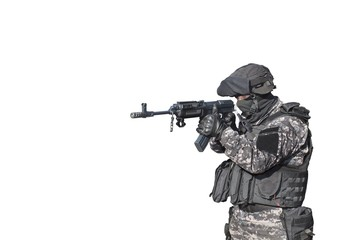 """Special Forces soldier, with assault rifle """"sa.vz.58"""" ;,"""