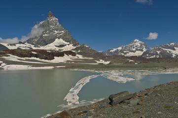 Glaciar bajo el Matterhorn