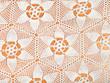 Leinwanddruck Bild - star ornament lace by crochet close up