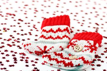Calze di Natale e stelle