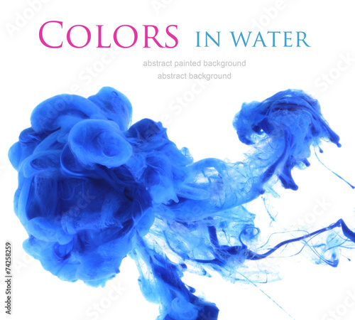 canvas print picture Acrylic colors in water. Abstract background.