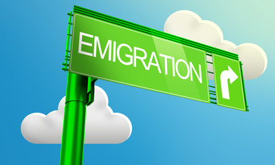 Segnale stradale emigration