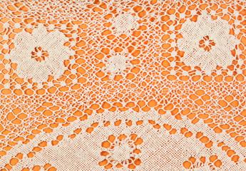 pattern by Maltese bobbin lace close up