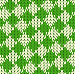 Seamless geometrical knitted pattern