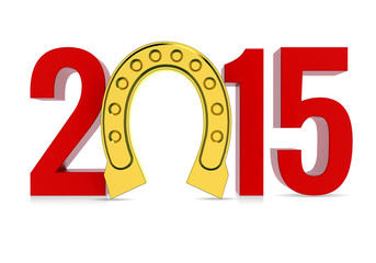 Happy New Year 2015 with Lucky Horseshoe