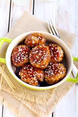 Teriyaki chicken meatballs