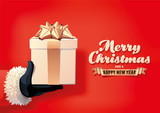 Santa Holding Christmas Gift