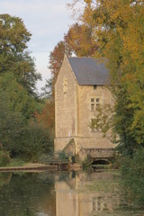 Maine-et-Loire - Montreuil-Bellay : moulin de la salle