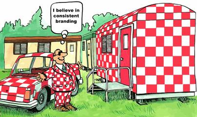 """""""I believe in consistent branding."""""""