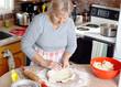 Grandmother making pies