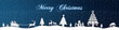 canvas print picture - cb26 ChristmasBanner - snow - english with text - 4to1 - e2673