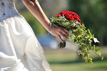 Bouquet della sposa al matrimonio