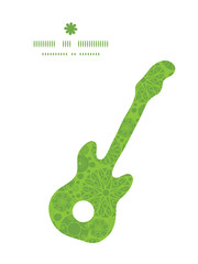 Vector abstract green and white circles guitar music silhouette