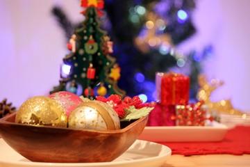 クリスマスのテーブルコーディネイト