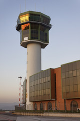 Italy, Naples International Airport, flight control tower
