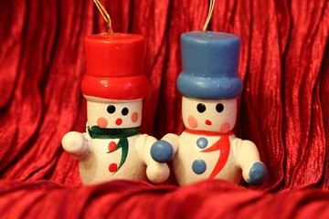 Wooden Christmas decoration - Snowmans