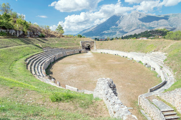 Alba Fucens, the amphitheater, Abruzzo Italy