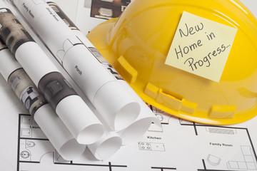 House blueprint construction