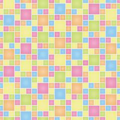 整列する正方形のテクスチャ(カラフル)