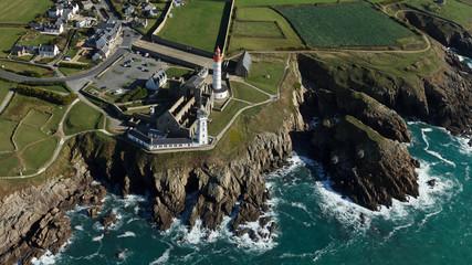 Pointe de St-Mathieu , Finistère vue du ciel