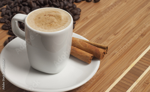 Foto op Canvas Chocolade Cappuccino with cinnamon