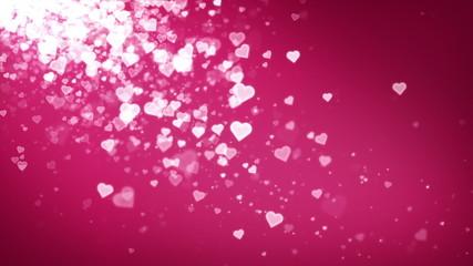 Hearts Pink Falling