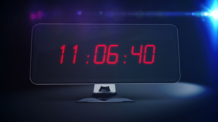 Countdown to 2015 on computer screen with fireworks