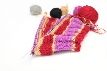 needle knitting and yarns