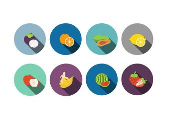 fruit ,Flat style