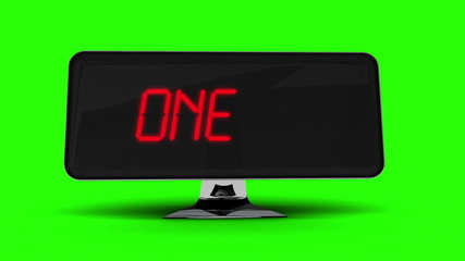 Countdown to 2015 on computer screen on green background