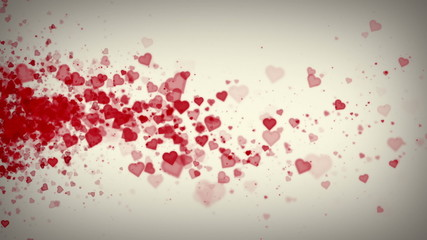 Hearts White Drifting