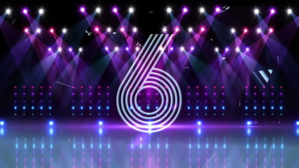 Countdown to midnight in disco style for 2015