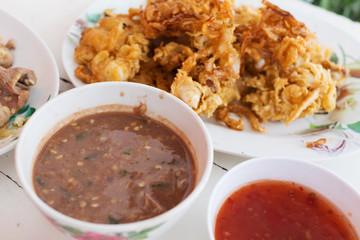 chili paste, spicy of thai food