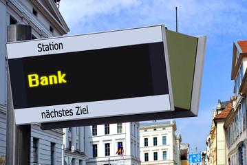 Strassenschild 27 - Bank