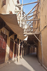 Narrow street in medina of Fez