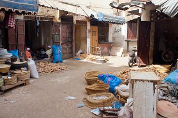 Street market in Meknes