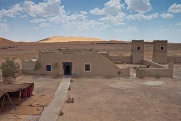 Kasbah in desert at Erg Chebbi