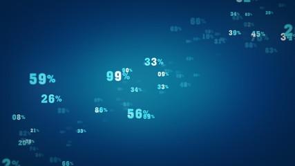 Random Percentages Blue Zooming