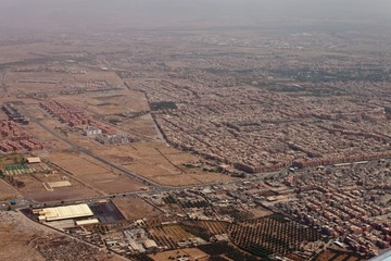 Aerial view of Marrakesh