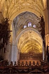 Interior of Cathedral in Seville