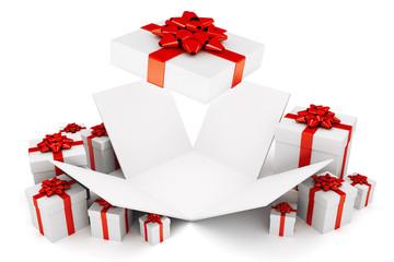 Open Christmas or birthday present